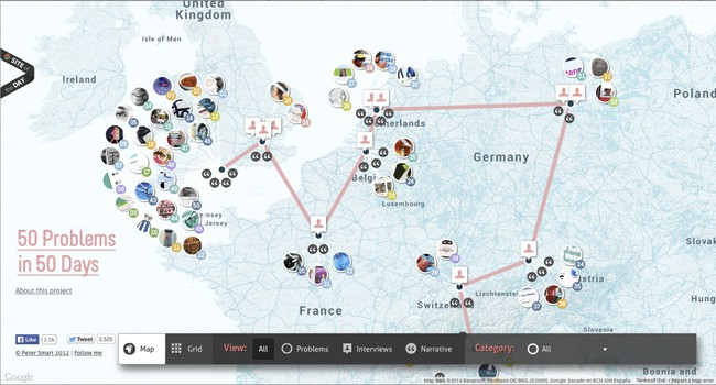 inspiration-interactive maps|Solve 50 problems in 50 days