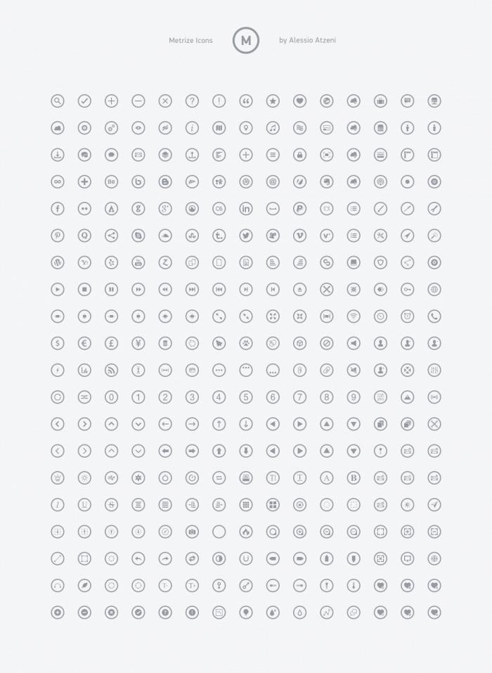 metrize - metro style icons