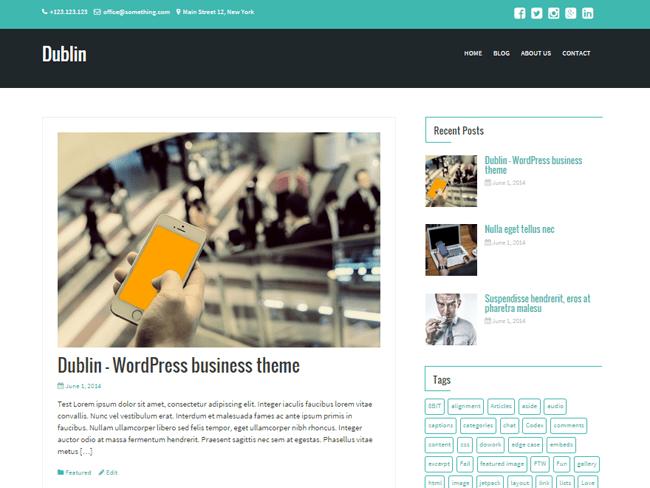 dublin_minimal wordpress themes
