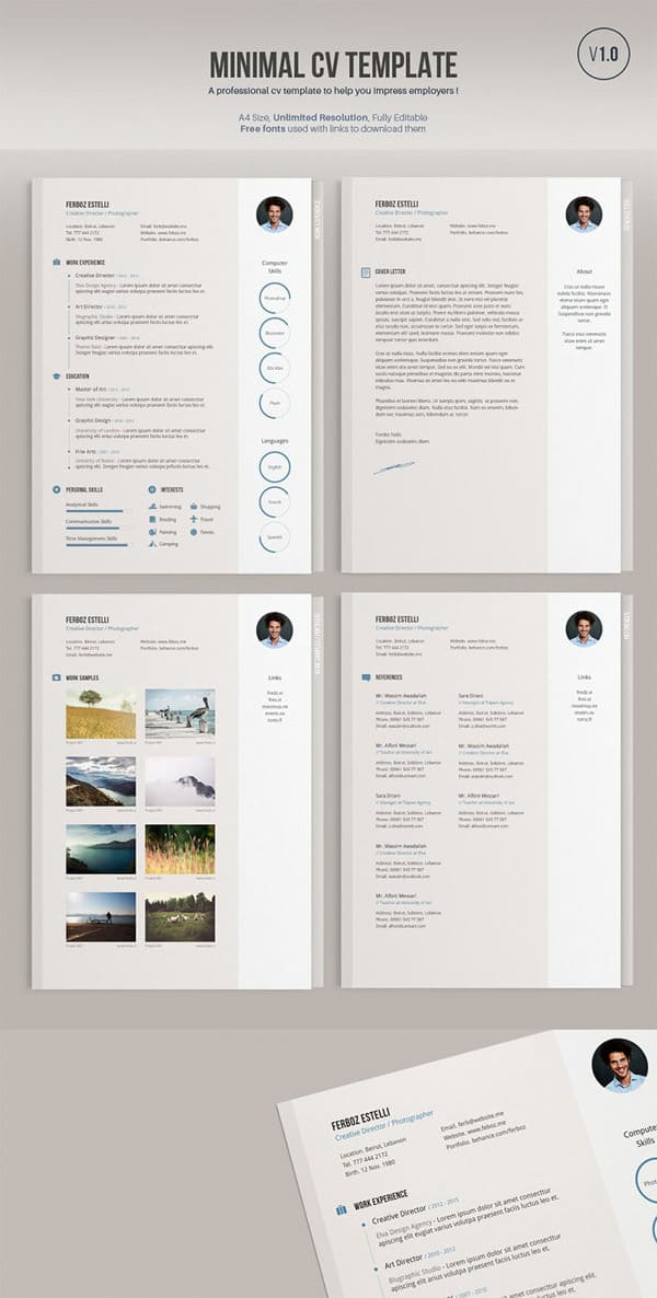 this week on list of freebies  business card  minimal cv