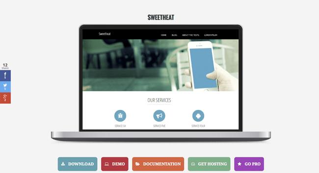 sweetheat_minimal wordpress themes
