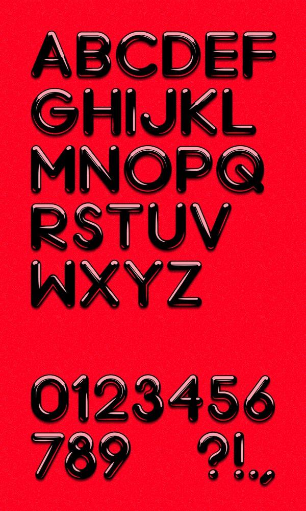 daily freebie chrome light font