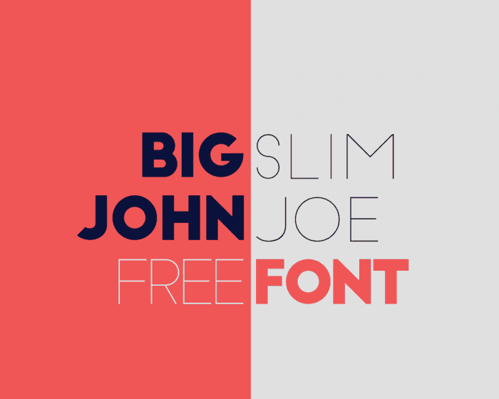 big john slim joe font