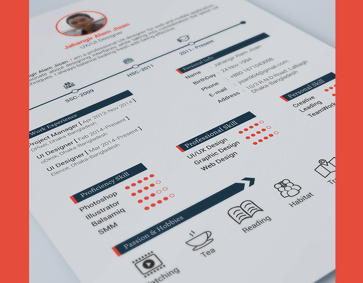 15 free and unique creative design resumes
