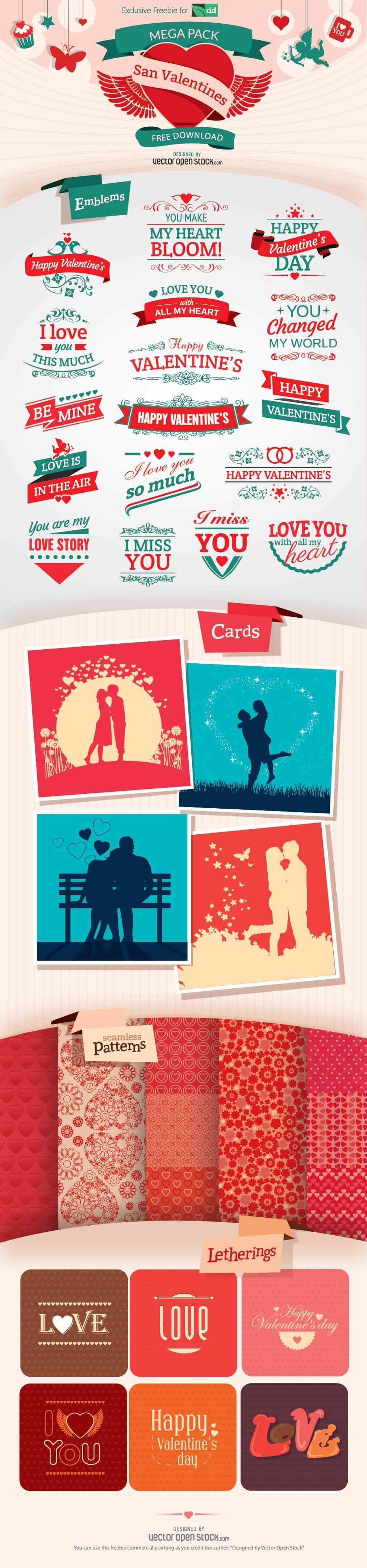 mega pack san valentines Freebie