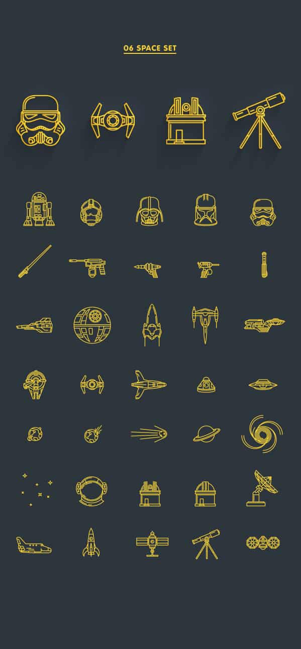 daily freebie - 8 line icons