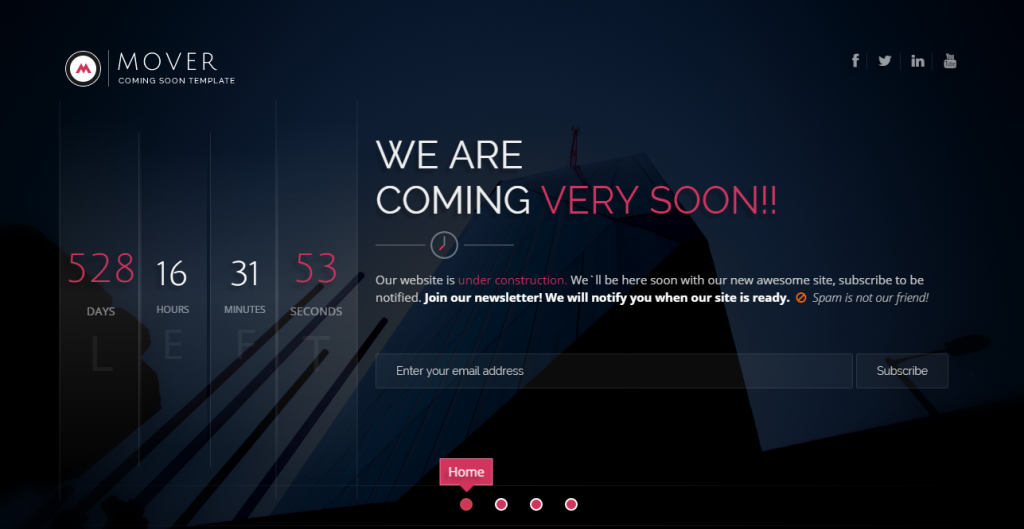 Coming soon blogger template 8 coming soon pages that will surely blow your visitors away maxwellsz