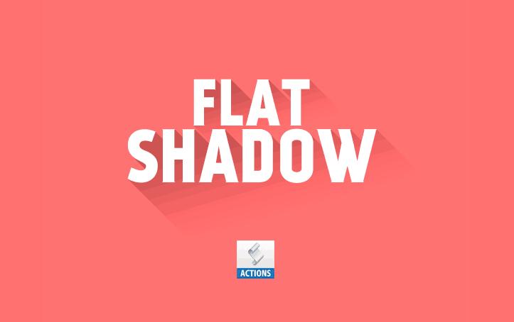 daily freebie - Mockup Flat Shadow Photoshop Action
