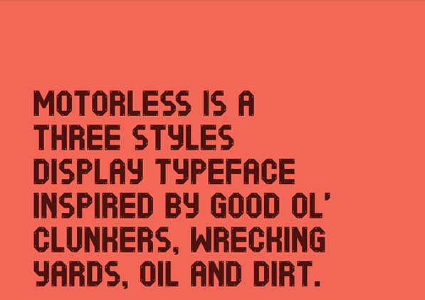bold fonts perfect for headlines Motorless