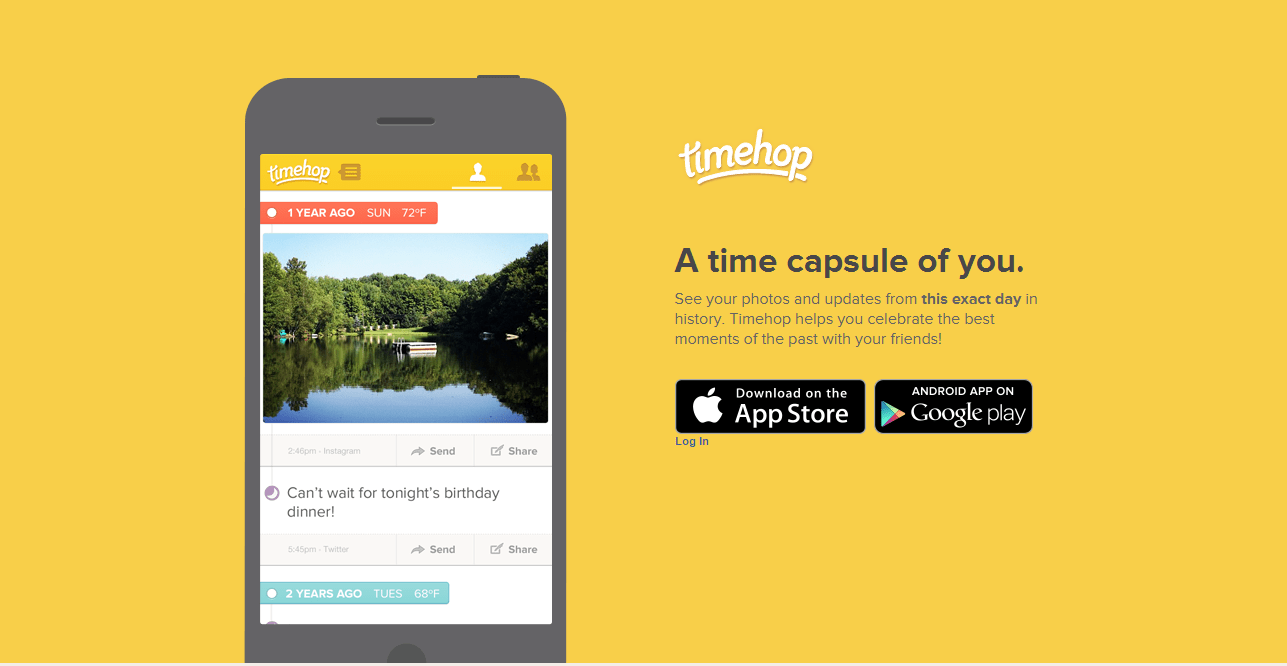 April Design Resource Roundup: Timehop  What did you do 1 year ago today
