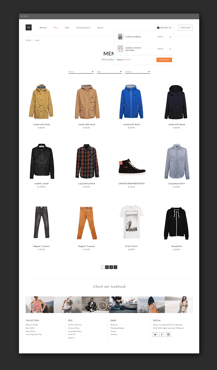 eCommerce Theme PSD for Clothing Store