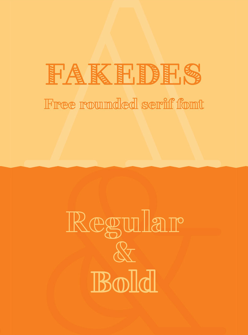 Daily Freebie: Fakedes - A Rounded Serif Font