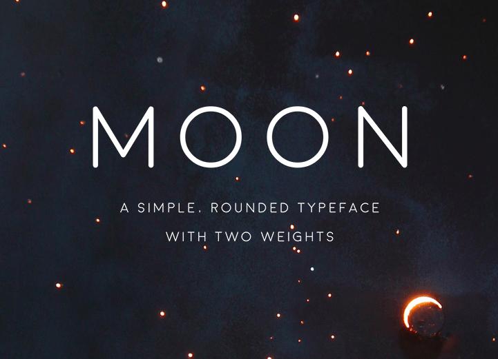 Moon   Free Font on Behance