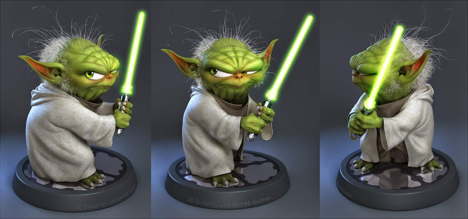 Yoda Character Design : Superheroes and comic character design that will bring out