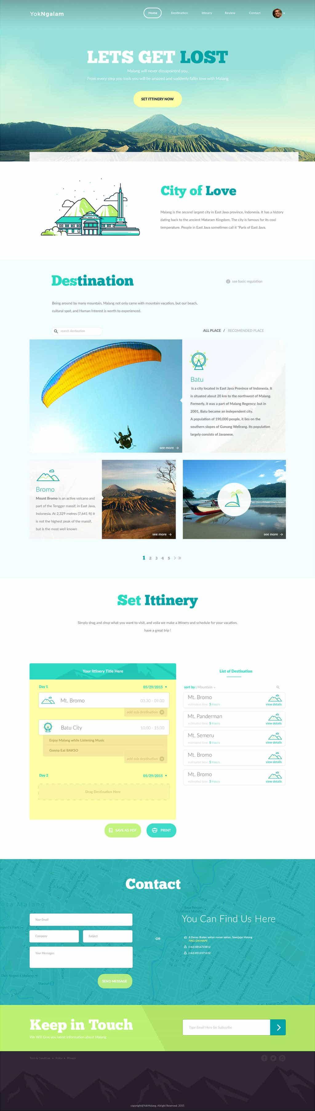 Daily Freebie: Flat Design Travel Tour Template (PSD)