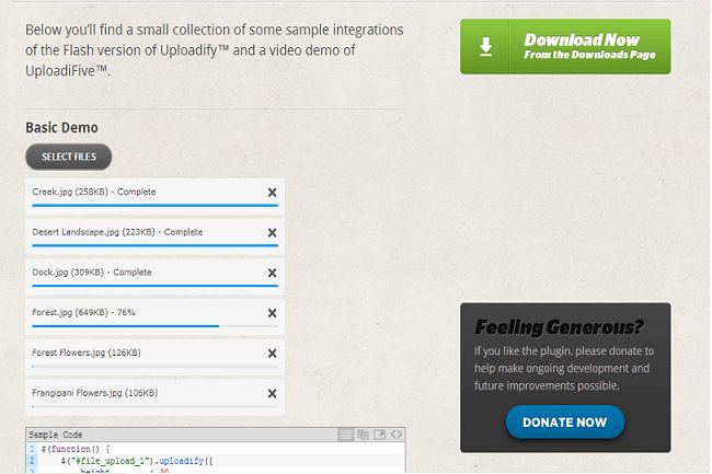 8 Inspiring FREE Examples of HTML5/jQuery Upload File Scripts