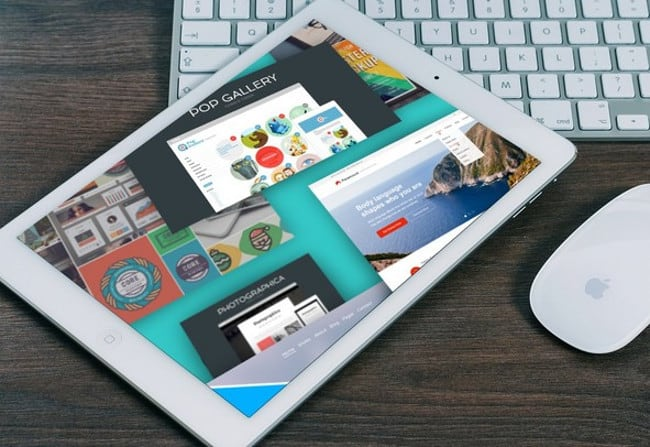 Surfing Website on Tablet