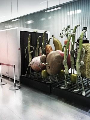 veggies on a carousel