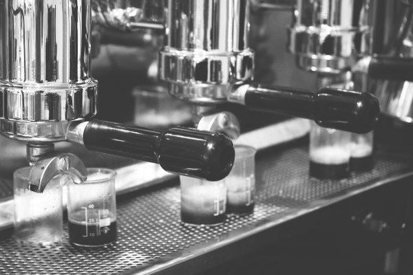 black and white espresso