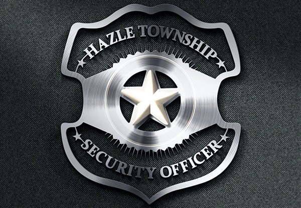 Silver security badge
