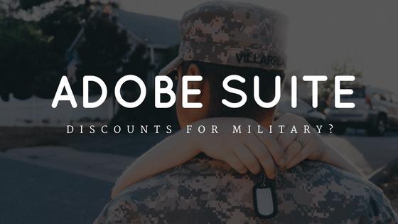 adobe military disocount