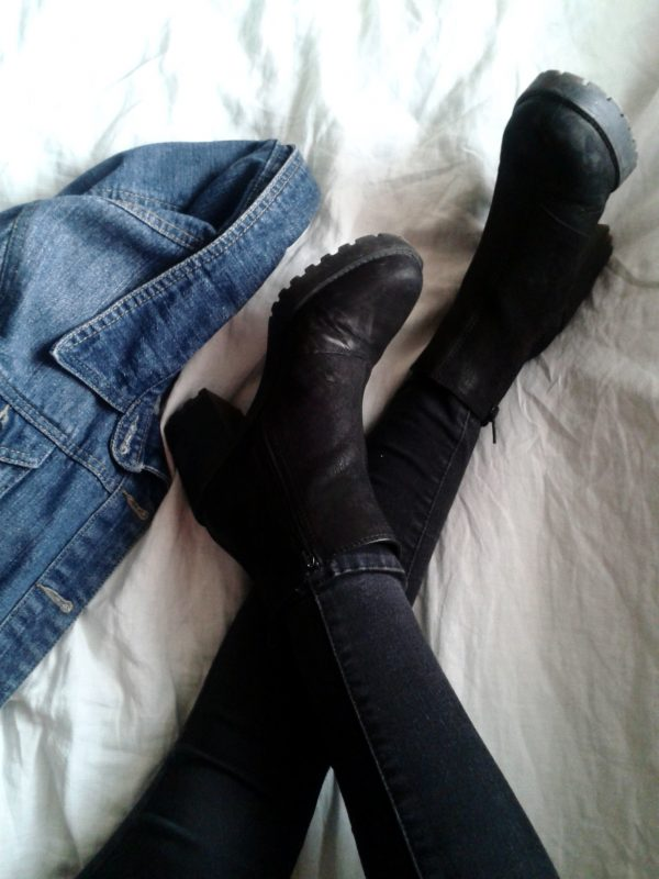 Big black boots and jacket