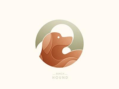 Circular dog logo