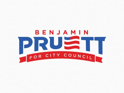 Political logo with banner