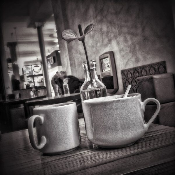 black and white caffeine