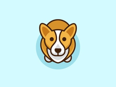 Brown corgi design