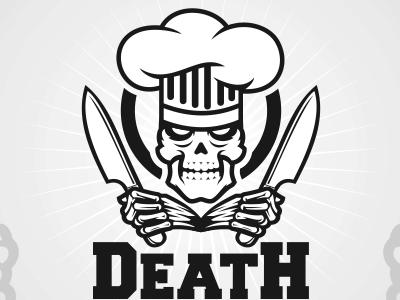Skeleton chef logo