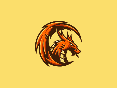 Fierce-looking dragon design