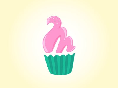 Pink Frosted Logo Cupcake Design