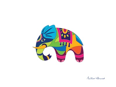 Indian designed elephant