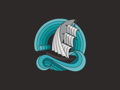 Sinking ship logo