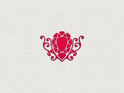Red pear shaped jewelry