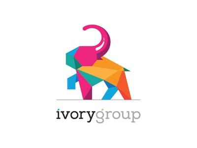 Rainbow elephant logo
