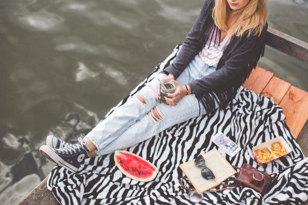 Girl with waterlemon