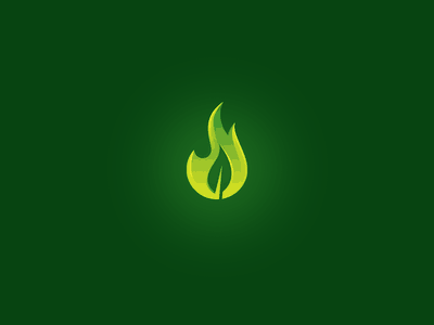 fire logo with leaf
