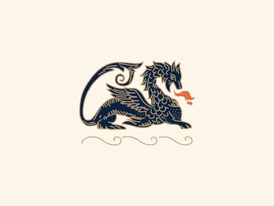 Vintage dragon logo