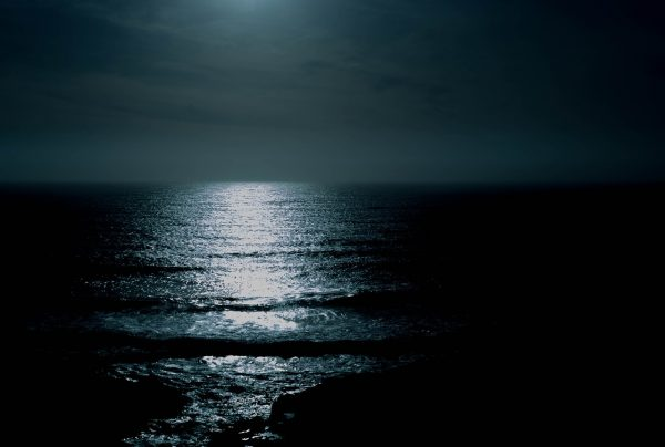 beach at night