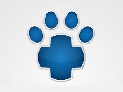 Blue cross and paw logo