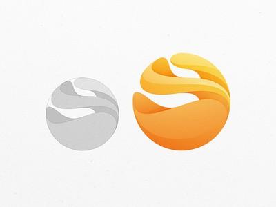 Orange sphere logo