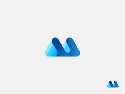 Blue Abstract logo