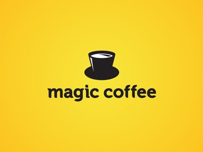 Yellow coffee logo