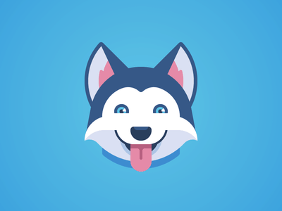Blue husky logo