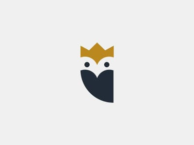 Owl with crown logo