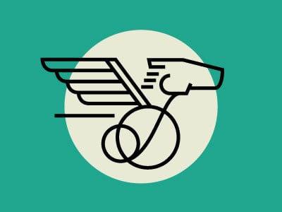 Pegasus on wheels logo