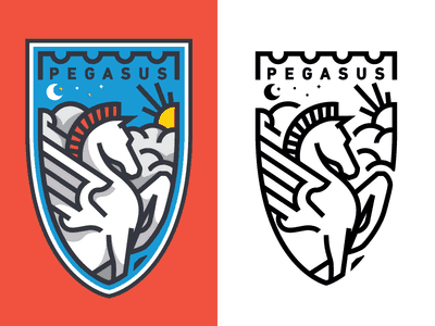 Pegasus crest design