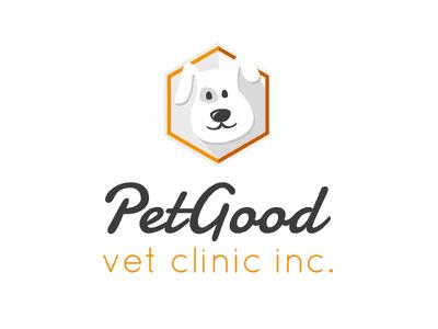 Pet good veterinarian logo